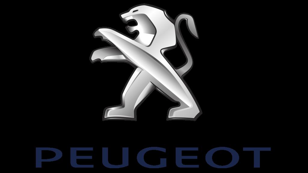 coche electrico peugeot logotipo punto de recarga